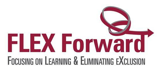 The official logo for the FLEX Forward - Focusing on Learning and Eliminating EXclusion initiative.